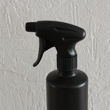 HDPE zwart 500 ml + spraykop_44