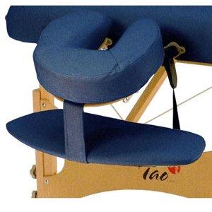blauwe armsteun voor massagetafel