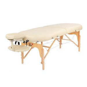 ovale massagetafel beige