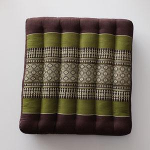Kapot zitkussen groen/bruin
