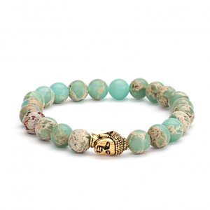 armband boeddha serpentijn
