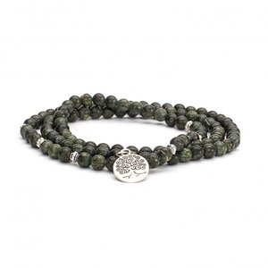 Mala armband / ketting serpentijn groen