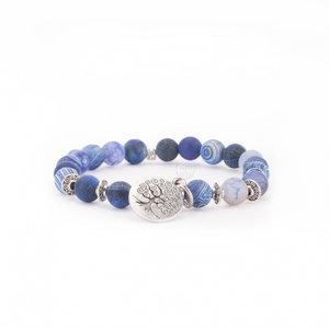 mala armband blauwe agaat