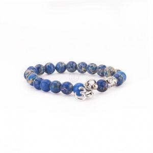 mala armband blauwe jaspis